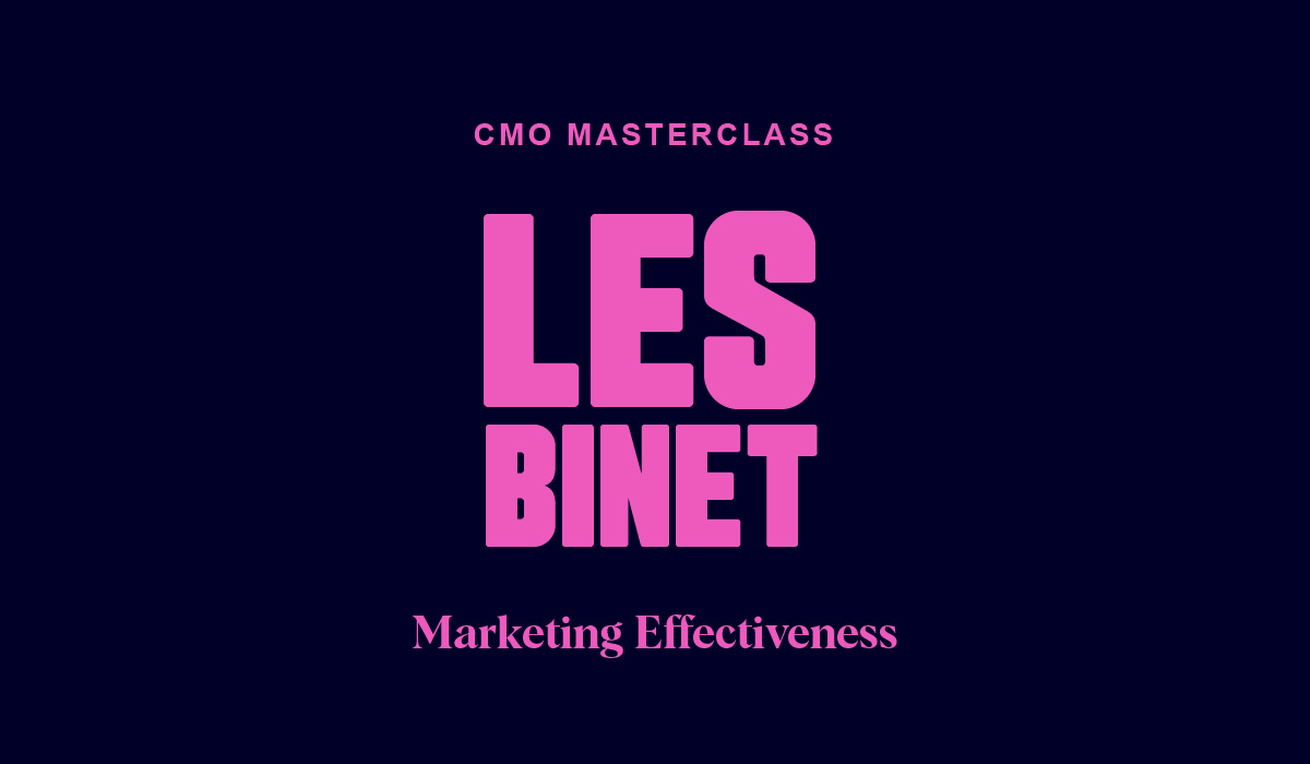 CMO Masterclass: Marketing Effectiveness