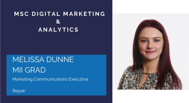 MSc Digital Marketing & Analytics Scholarship Recipient … Melissa Dunne MII Grad