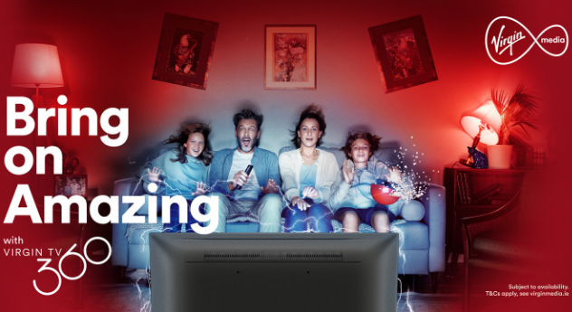 Virgin Media to 'Bring On Amazing' with major integrated marketing campaign to launch new Virgin TV 360 Platform